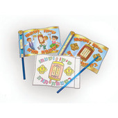 Simchat Torah Flag Coloring Arts & Craft Project