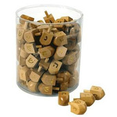 Gold Stamped Wooden Dreidels