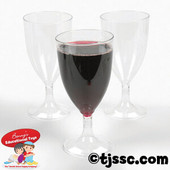 Tall clear plastic wine cup for kiddush disposable