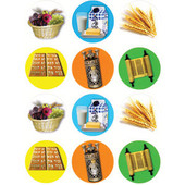 Shavuot Symbols Stickers - 120 in a pack