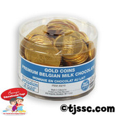 70 NUT-FREE -  Large Milk Chocolate Gelt Coins in Tub - As low as $11.99
