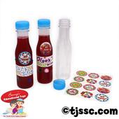 10 Large Plastic Bottles Stickers & Recipe - Ha Bore Pri Ha Geffen - DIY Wine or Grape Juice Project