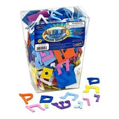 Hebrew Alef-Bet Self-Adhesive Foam Shapes