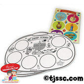 Chanukah Color & Sticker Fun Activity