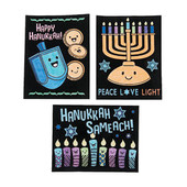Color Your Own Fuzzy Chanukah Posters