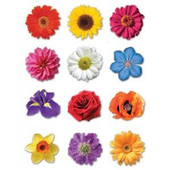 Colorful Flowers Stickers for Shavuot and Tu B'Shvat