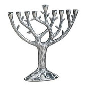 "Textured ""Tree of Life"" (TM) Menorah"