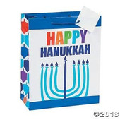 Happy Hanukkah Gift Bags with Gift Tags