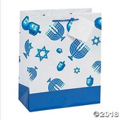 Hanukkah Icons Gift Bags with Gift Tags