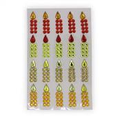 Chanukah Candles Glitter Gem Stickers