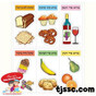 Foods with Brachot Labels Card Board
