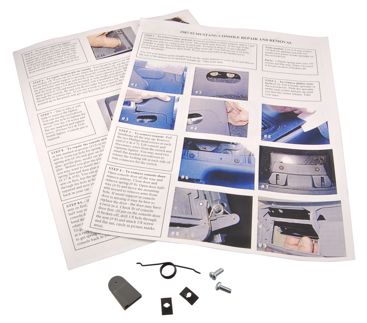 1987-1993 Ford Mustang ashtray lid repair kit.