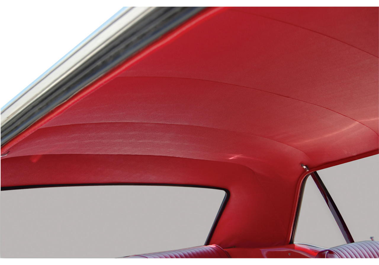 1969-1970 Ford Mustang fastback head liner, bright red.