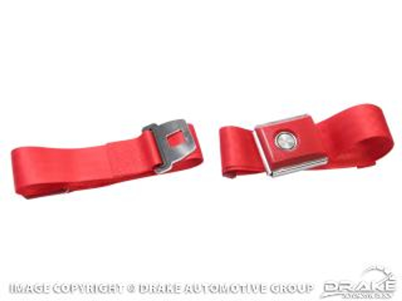 1964-73 Ford Mustang aftermarket seat belt. Great looking replacement style seat belts.