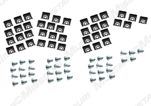 1964-65 Window Molding Clips & Screws Coupe