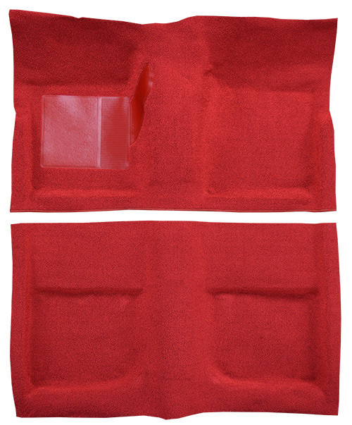 1965-1968 Ford Mustang carpet, bright red.
