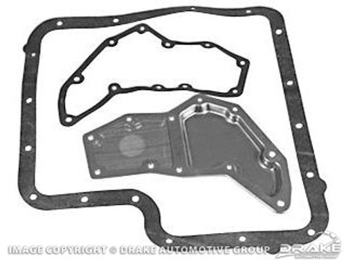 1967-1973 Ford Mustang transmission filter and gasket, C-6 transmission, kit.