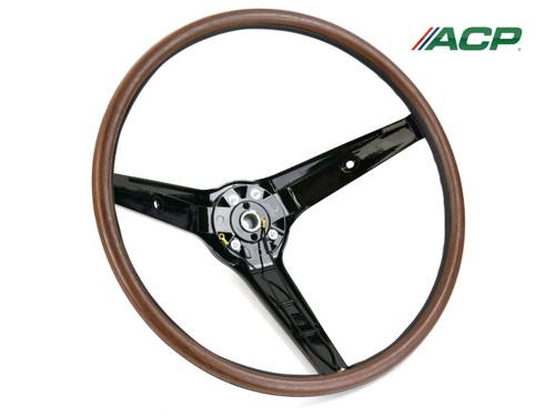 1969 Ford Mustang Steering Wheel Woodgrain Rim Blow