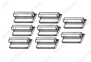 1969-1970 Ford Mustang Window Guides