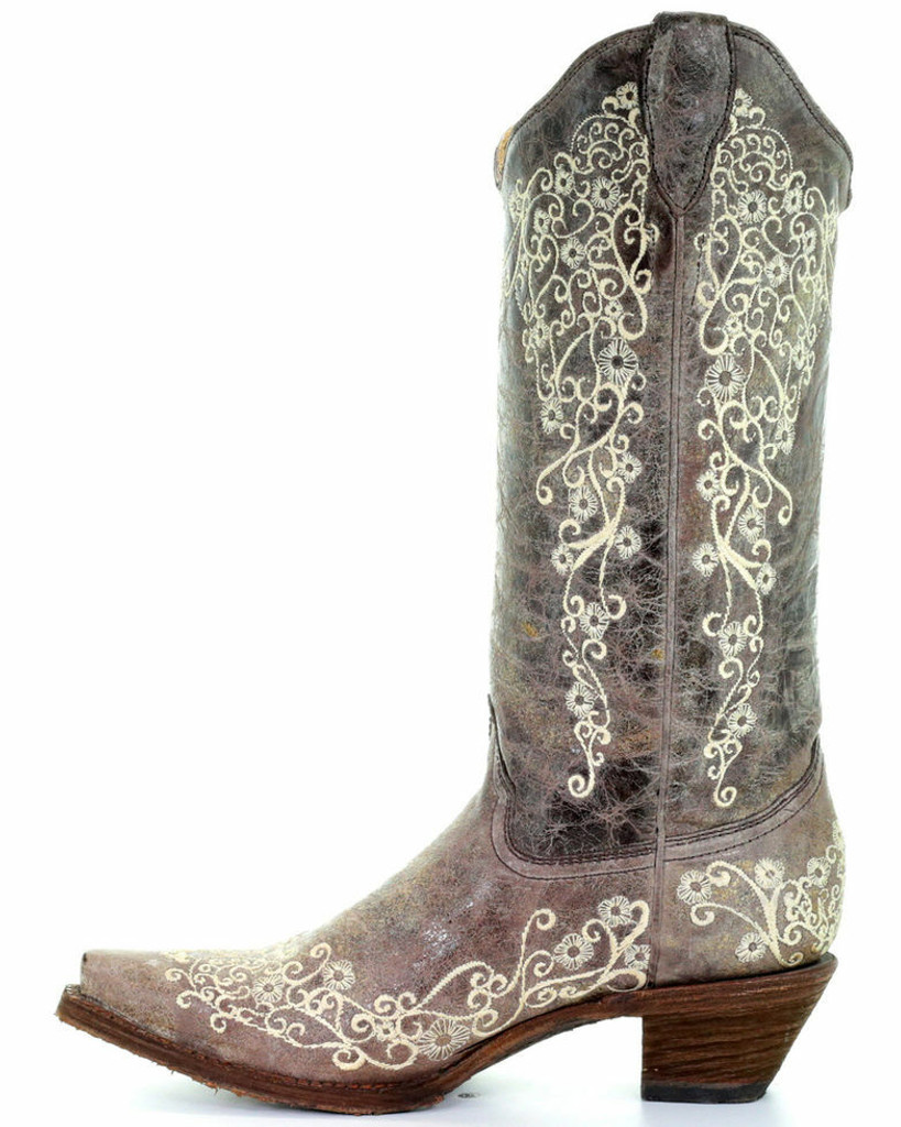 Corral Women's Bone Embroidery Western Boots A1094