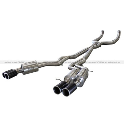 AFE Machforce XP Cat Back Exhaust W/ Carbon Fiber Tips 49