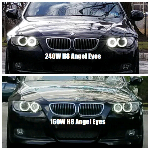 Hpb 240 Watt Total Output H8 Bmw Cree Led Angel Eye-9136
