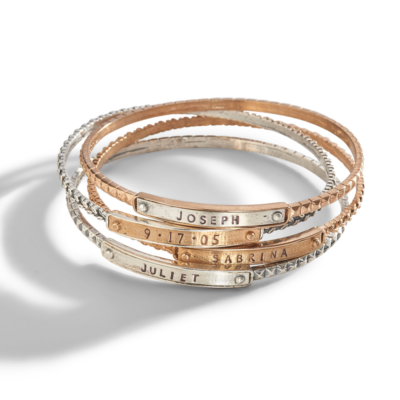 personalize copper bangle thin it stackable bangles stacking bracelets