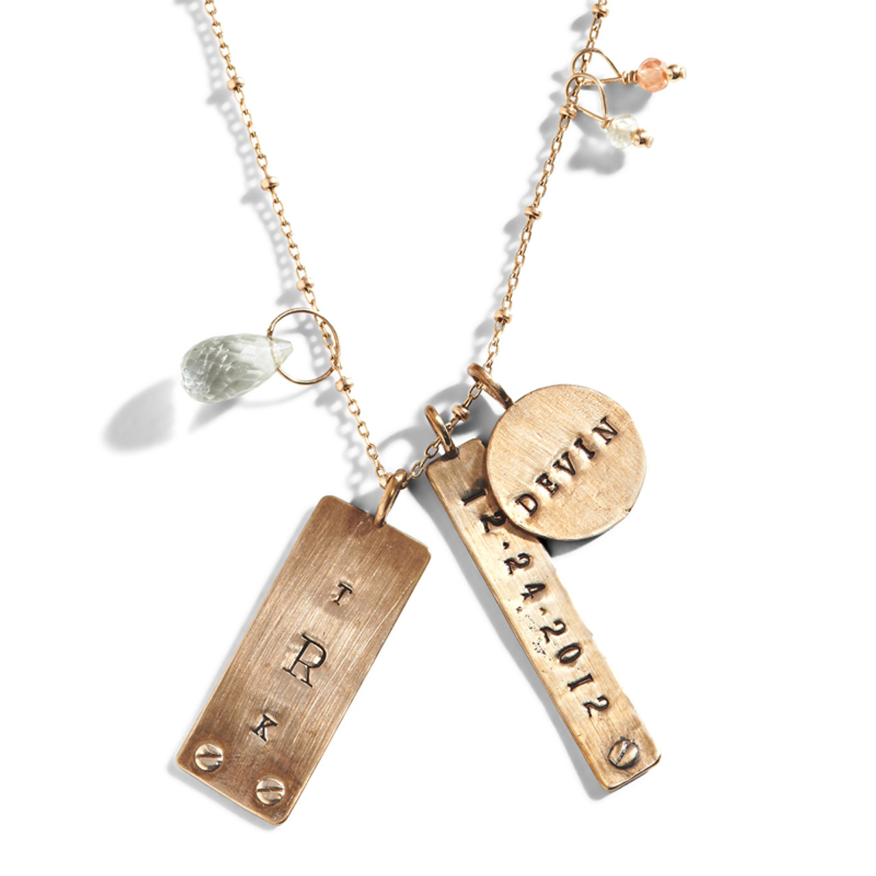 personalized tag necklace personalized stamped jewelry