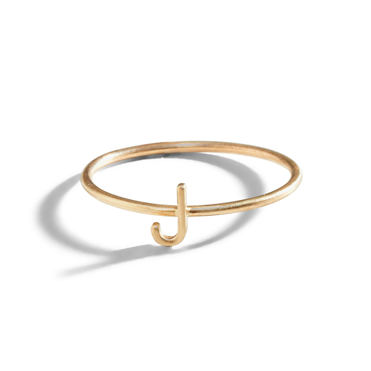 Gold Initial Letter Ring