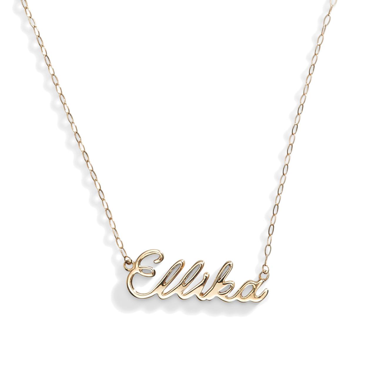 14k gold angel delicate nameplate necklace aloadofball Images