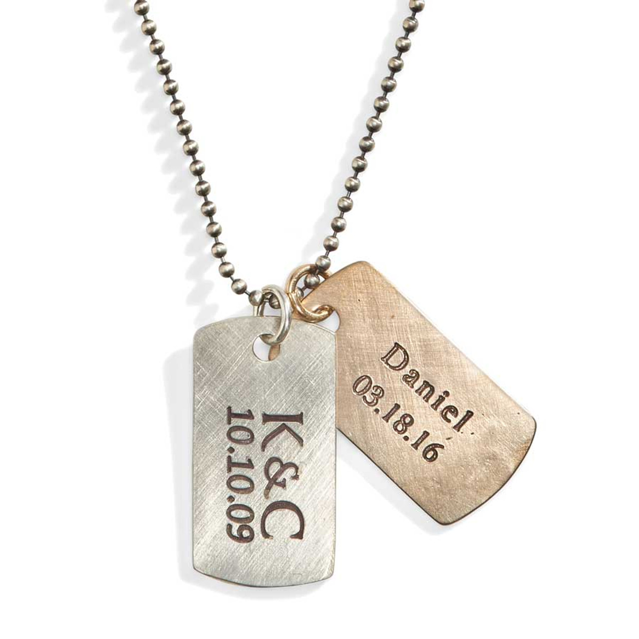 engraved dog tags necklace