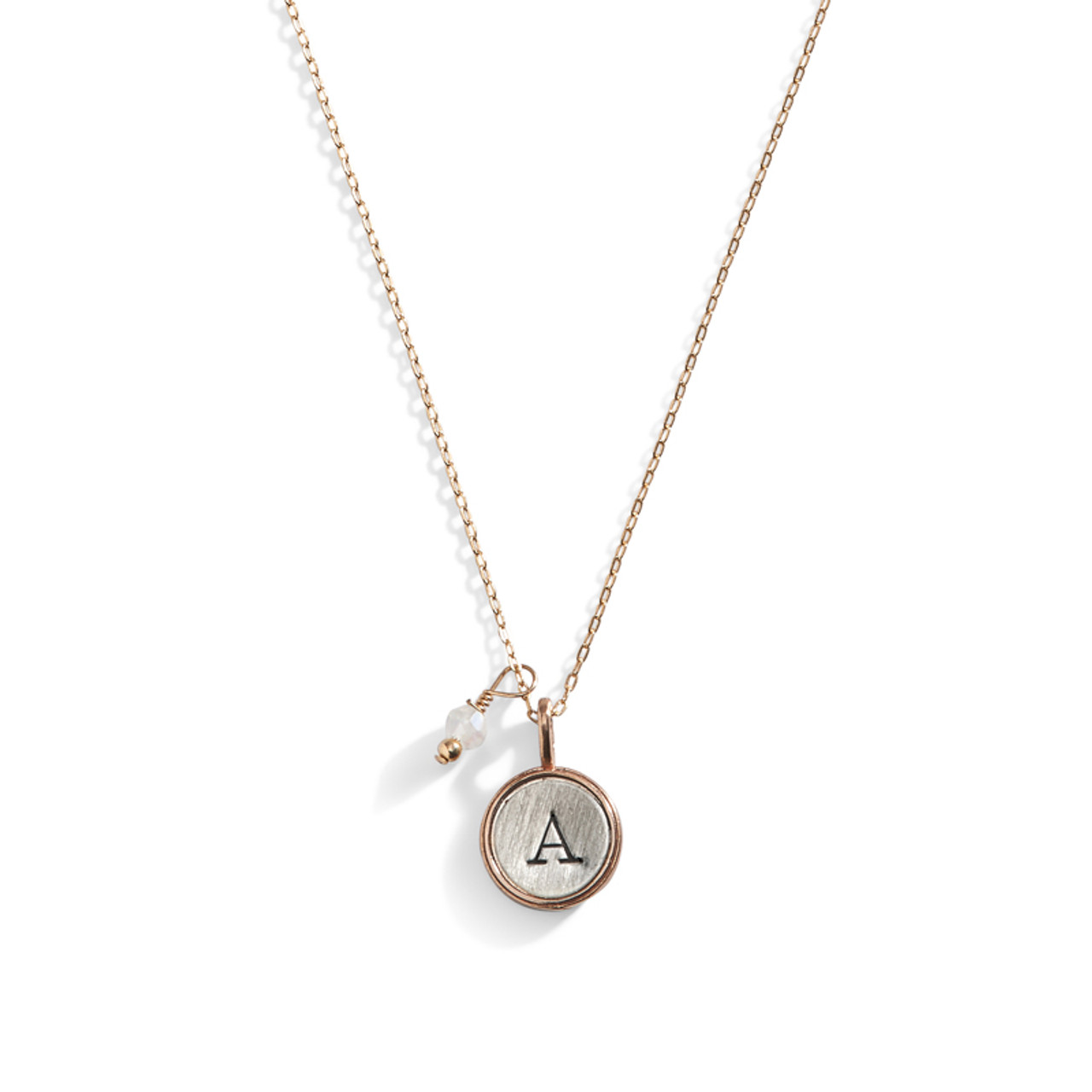hammered personalised h disc neck necklace initial