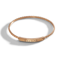 Ina Personalized Stacking Bangle Bracelet in bronze.