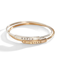 Stacked Ina Personalized Stacking Bangle Bracelet
