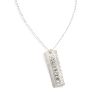 Arizona Sue Mens Personalized Necklace in Sterling Silver.