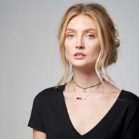 Demi Engraved Bar Nameplate Necklace