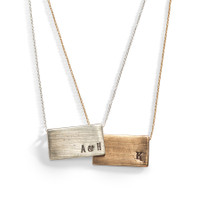 Wide Nameplate Necklace