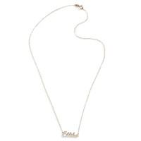 14K Gold Angel Delicate Nameplate Necklace