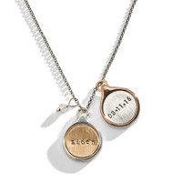 King & Sally - Double Sided Name Charm Necklace