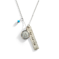 Nashville Personalized Initial Necklace in Sterling Silver.