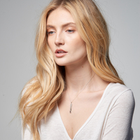 Aquila Personalized Birthstone Skinny Initial Necklace