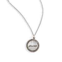 Petticoat Diamond Rimmed Name Charm Necklace