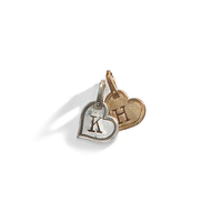 Tiny Heart Initial Charm - A La Carte Charm