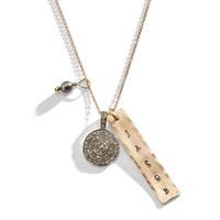 Clara's Diamonds Classic Charm Necklace