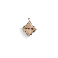 Veronica Personalized Clover Shaped Name Charm in Bronze