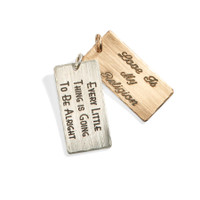 Megans Lyrical Double Wide Personalized Rectangle Charm