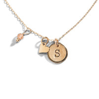 Theo Initial Charm Necklace
