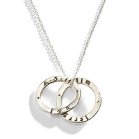 Celebrian Stacking Ring Necklace in Sterling Silver.
