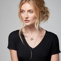 Curved Diamond Dagger Necklace