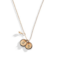 Petite Doubloon Tiny Initial Necklace